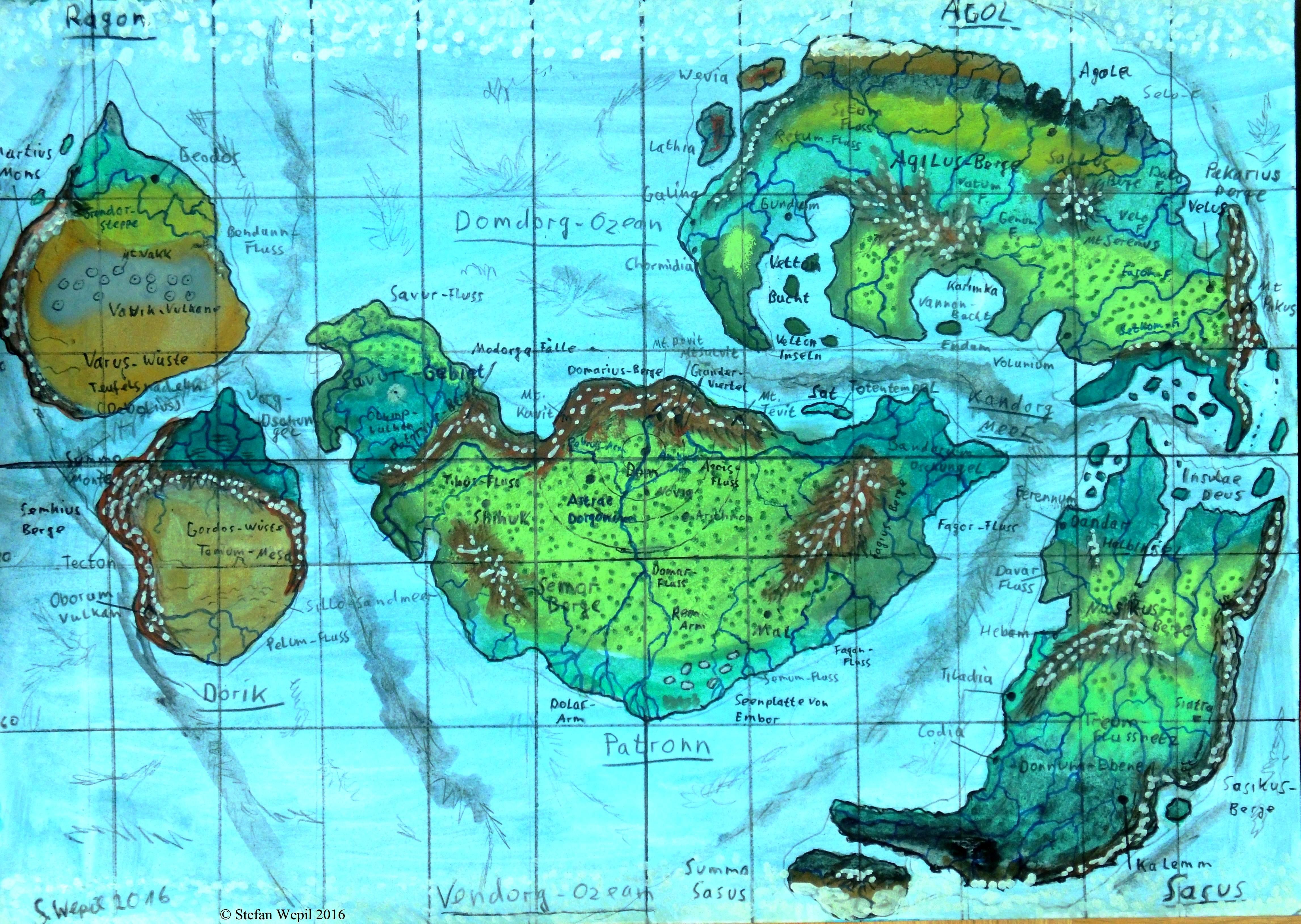 Planetenkarte Dorgon (C) Stefan Wepil