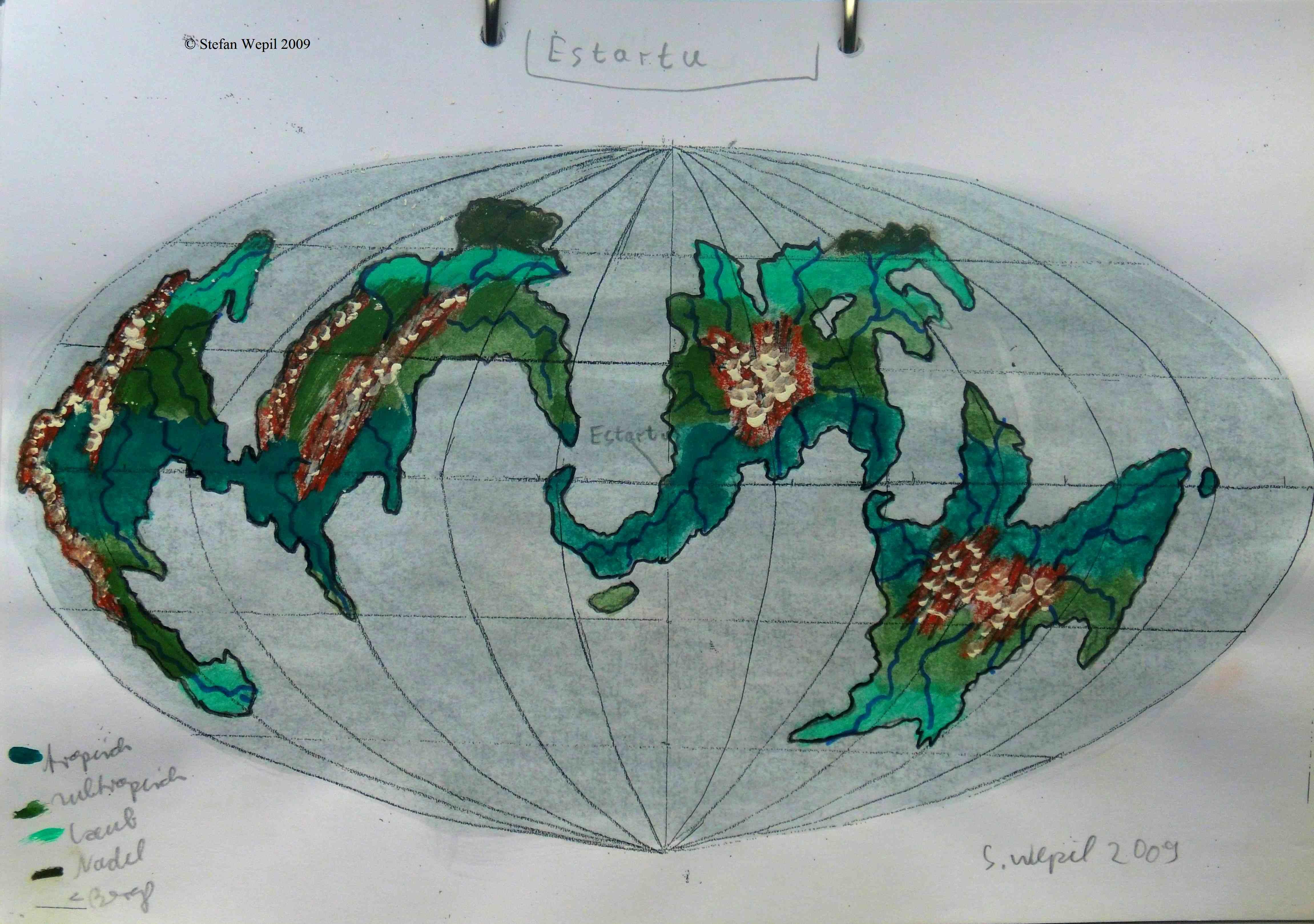 Karte der Welt Estartu in Cartwheel (C) Stefan Wepil