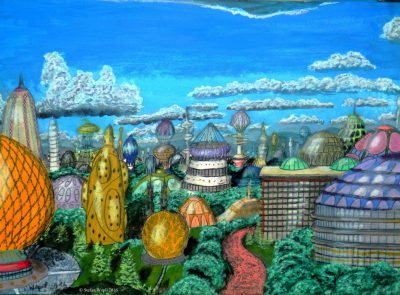 Die Stadt Hesathan auf der dorgonischen Welt Hesophia. (C) Stefan Wepil
