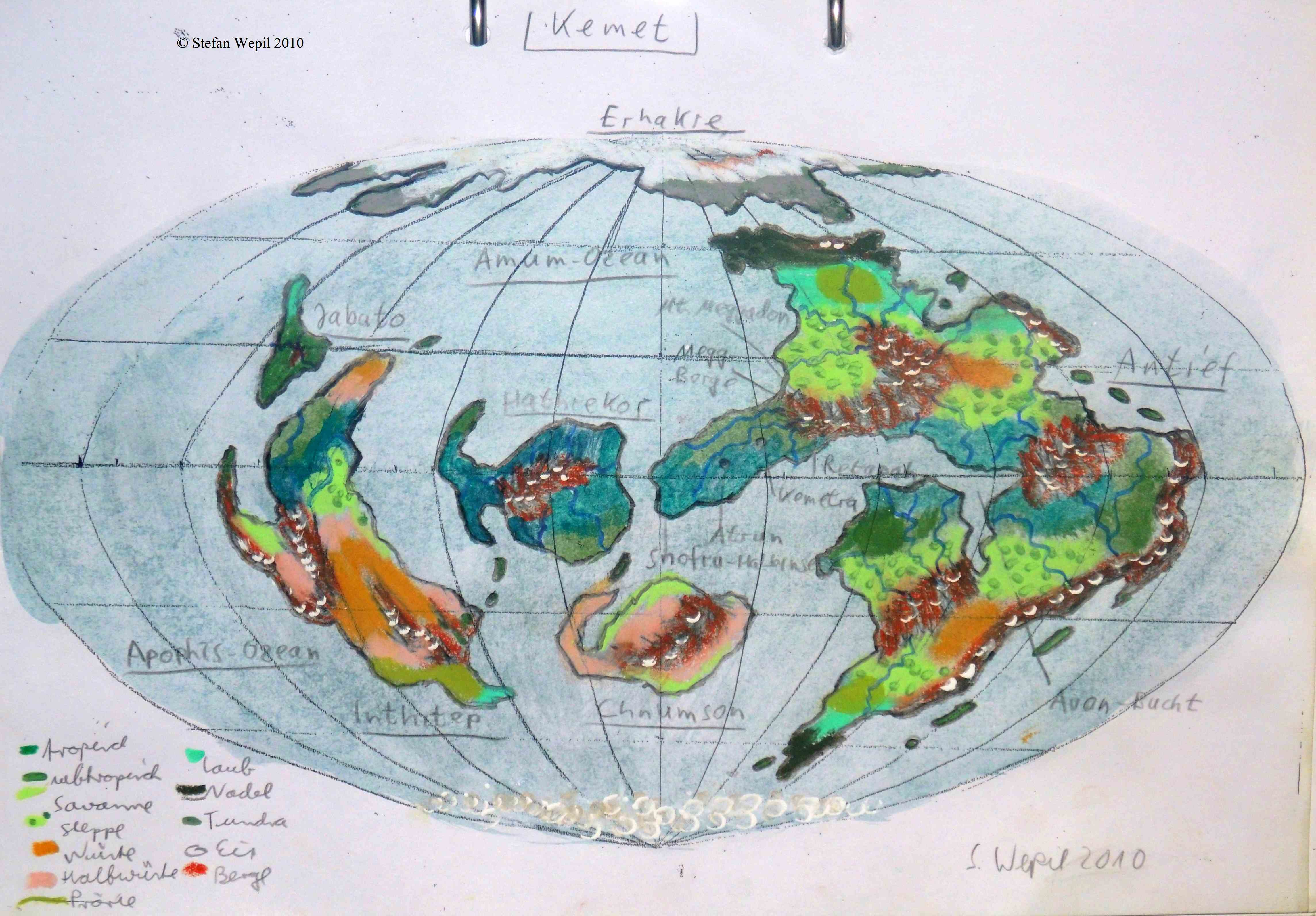 Planetenkarte von Kemet (C) Stefan Wepil