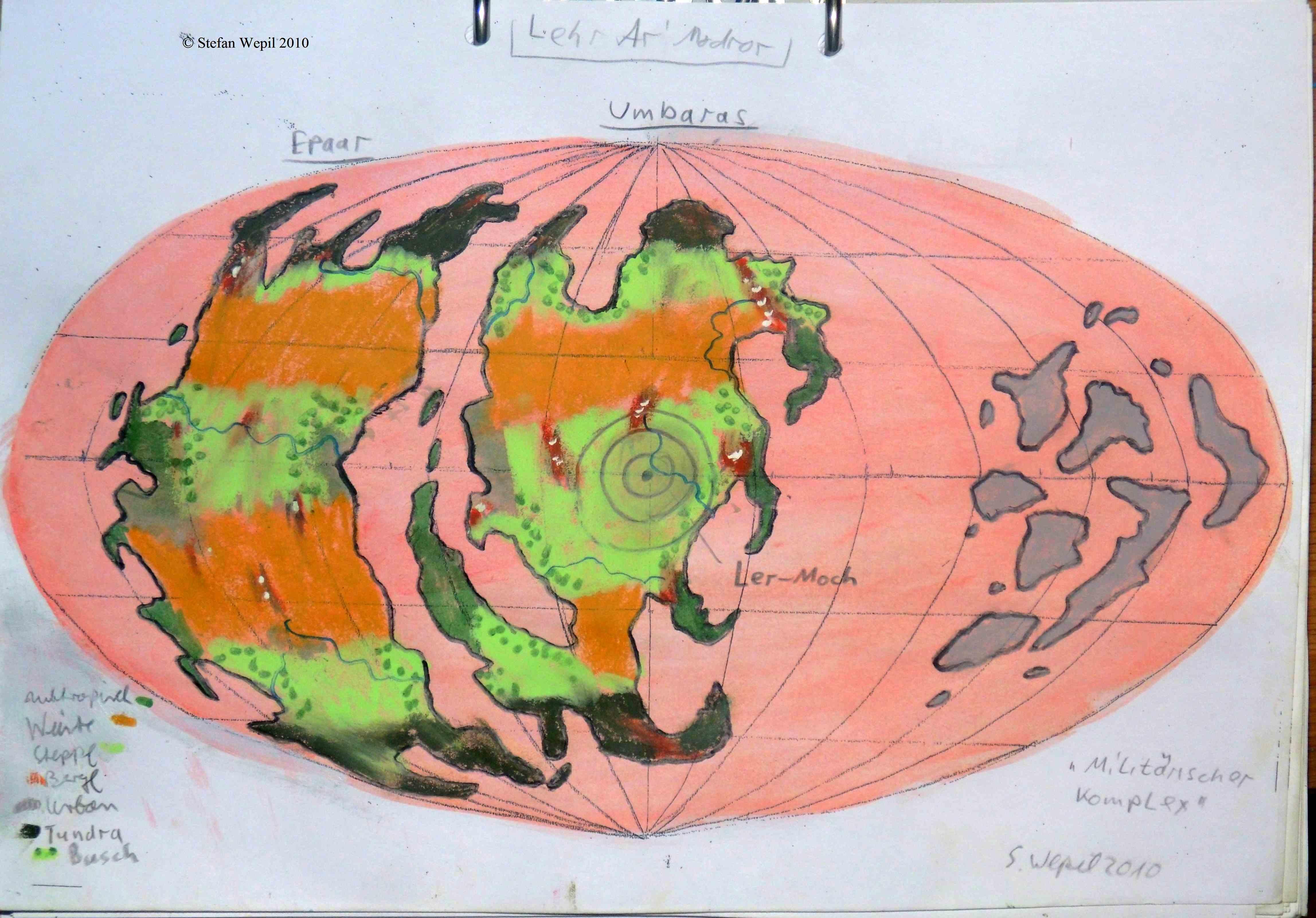 Lehr'Ar'Modror Planetenkarte (C) Stefan Wepil