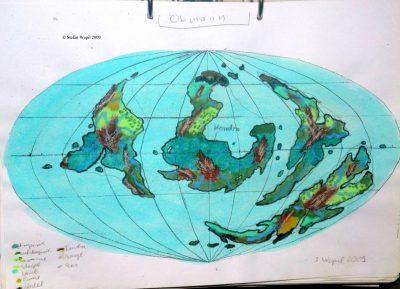 Landkarte des Planeten Obmann in Cartwheel (C) Stefan Wepil