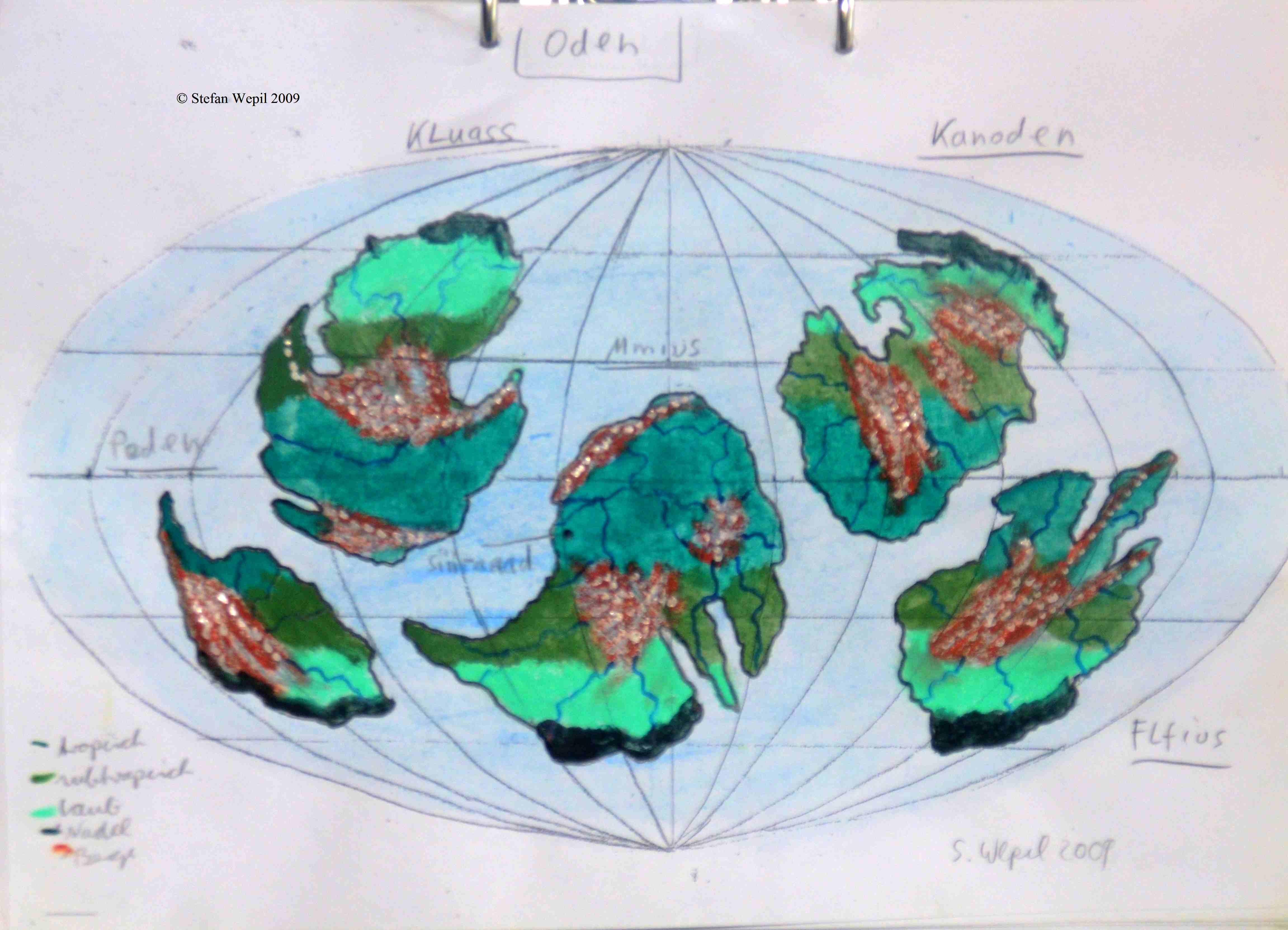 Weltkarte von Oden (C) Stefan Wepil