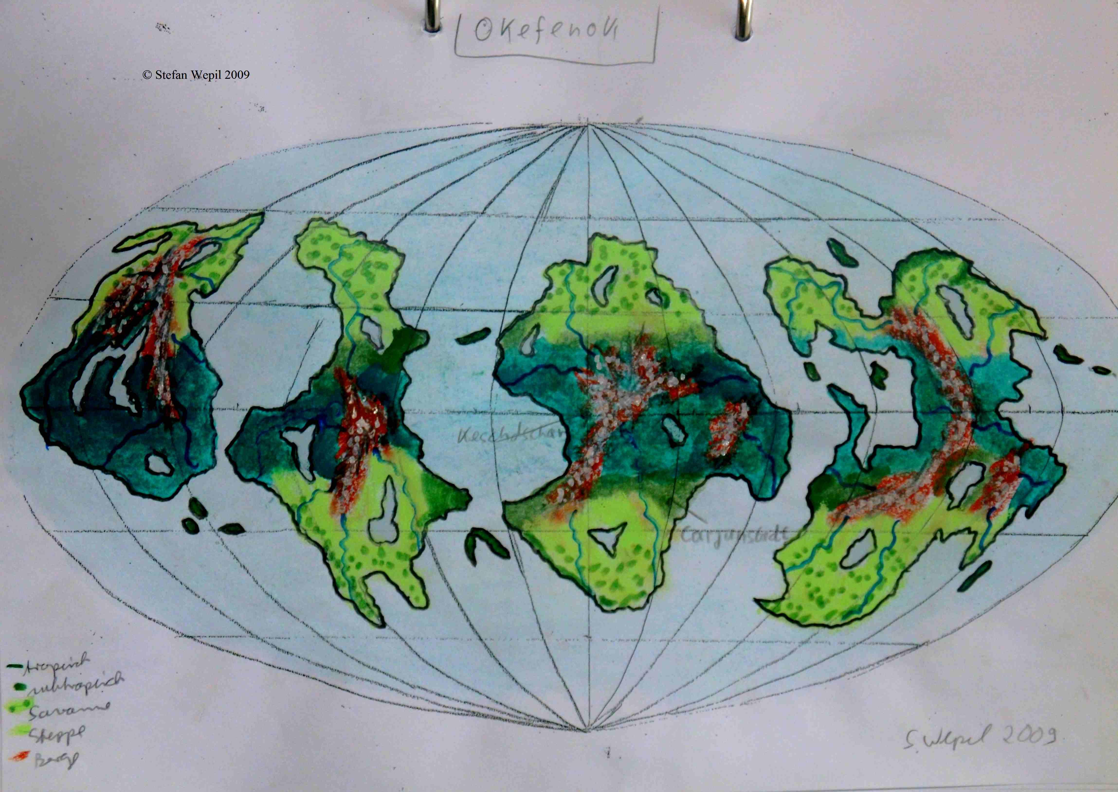 Planetenkarte von Okefenok in Cartwheel (C) Stefan Wepil