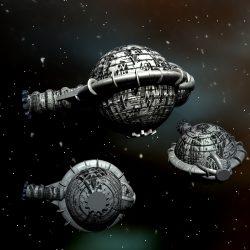 Supremo Raumschiffe des Quarterium (C) Heiko Popp