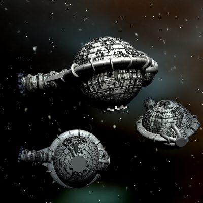 SUPREMO-Raumschiffe des Quarteriums © Heiko Popp