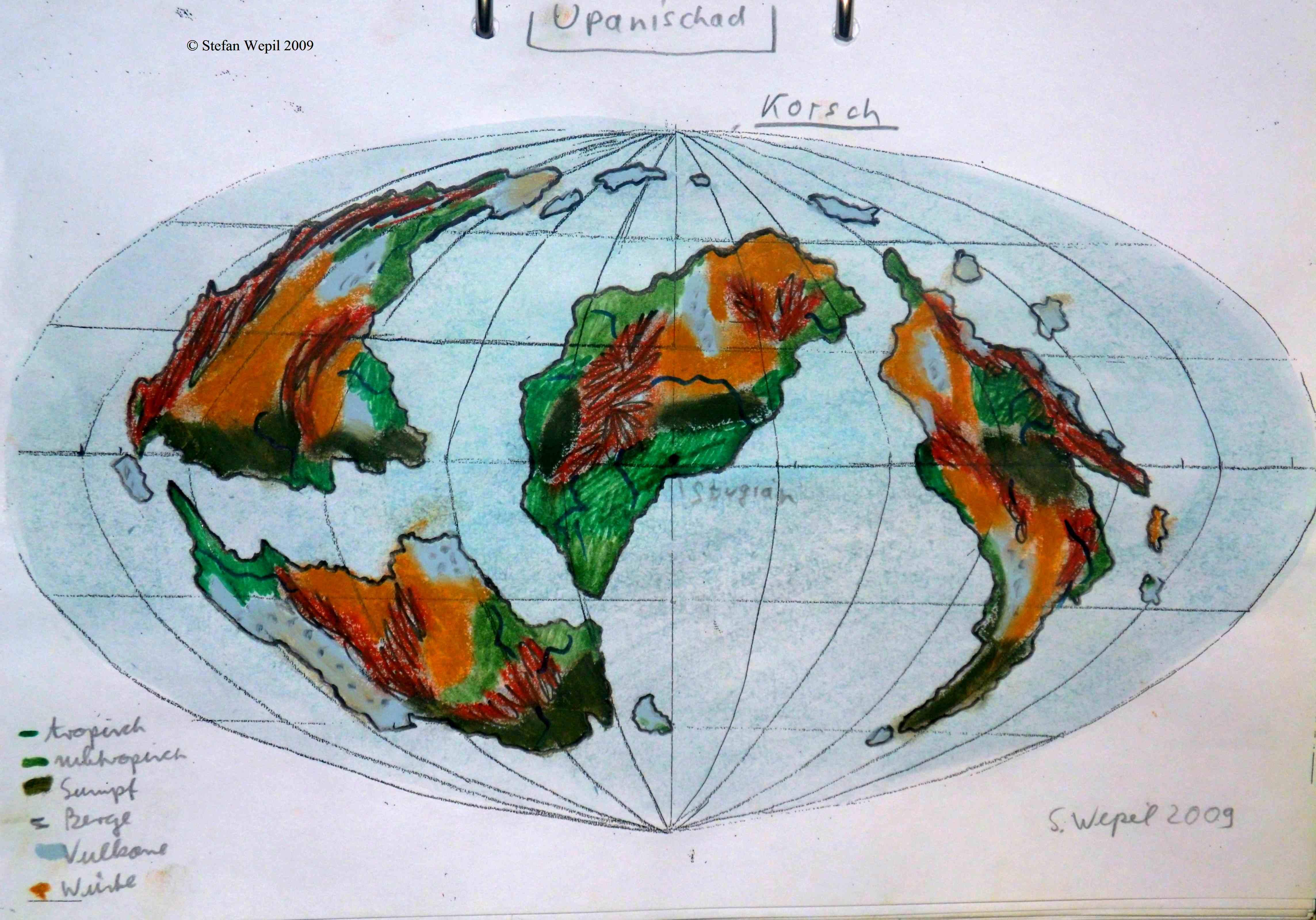 Landkarte der Welt Upanishad in Cartwheel (C) Stefan Wepil