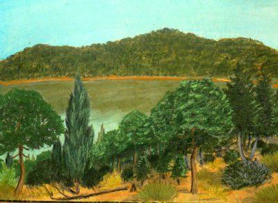 Wald und See auf Cermium, der Hauptwelt der Provinz Harridon in M 100 Dorgon. (C) Stefan Wepil
