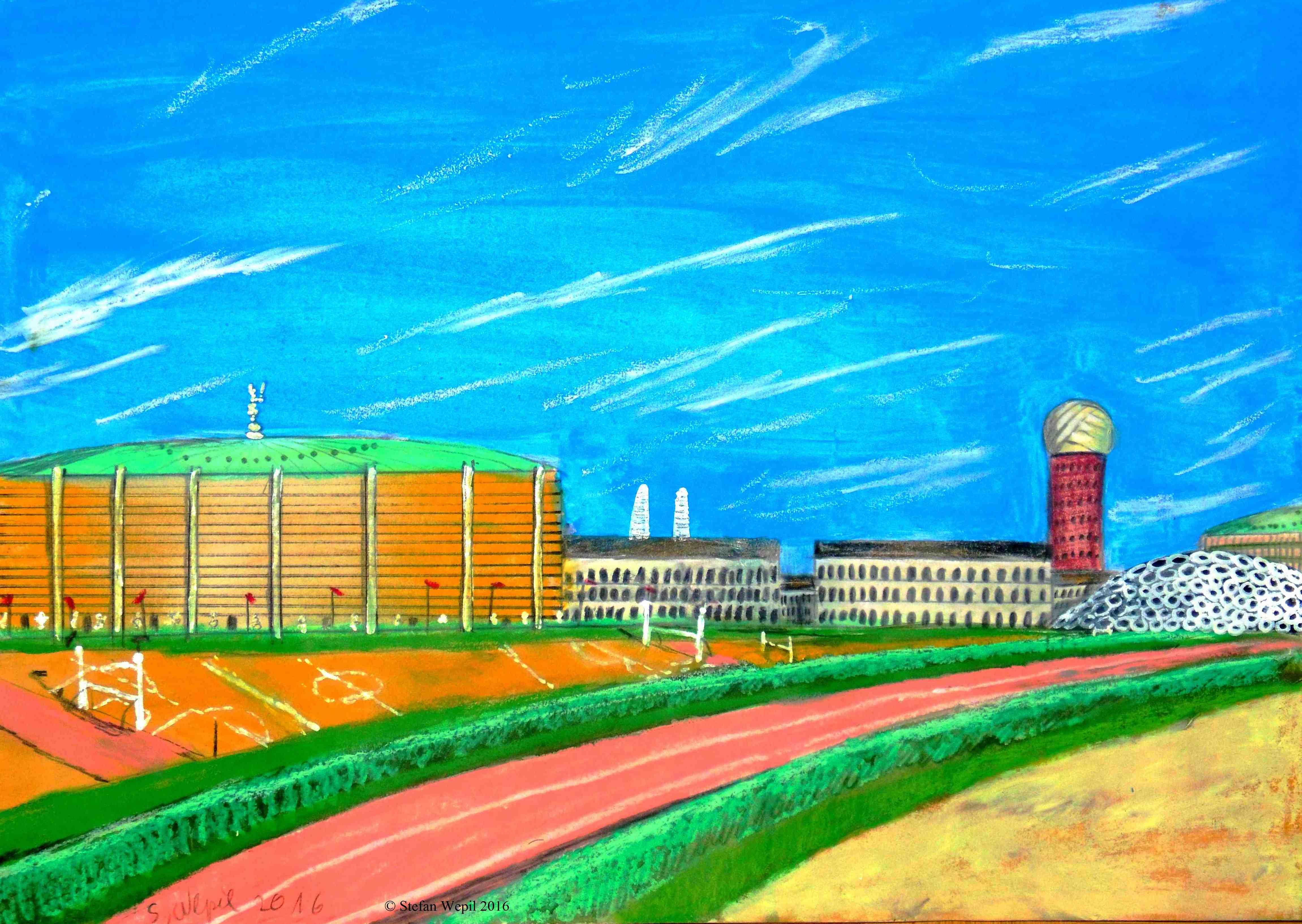 Die Sportlerstätte Athlon in Dom auf dem Planeten Dorgon (C) Stefan Wepil