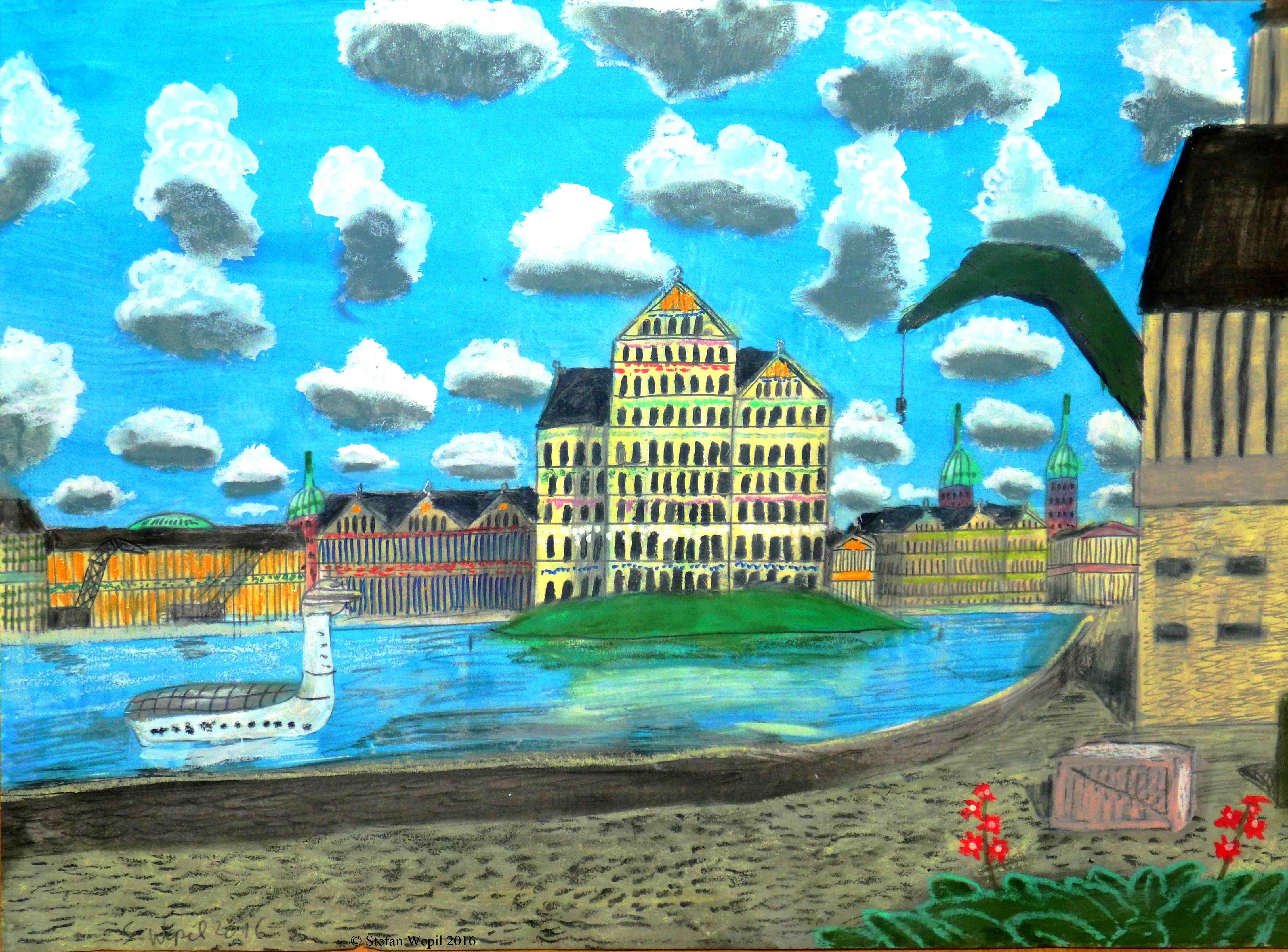 Das Flussviertel in Dom auf der Welt Dorgon. (C) Stefan Wepil