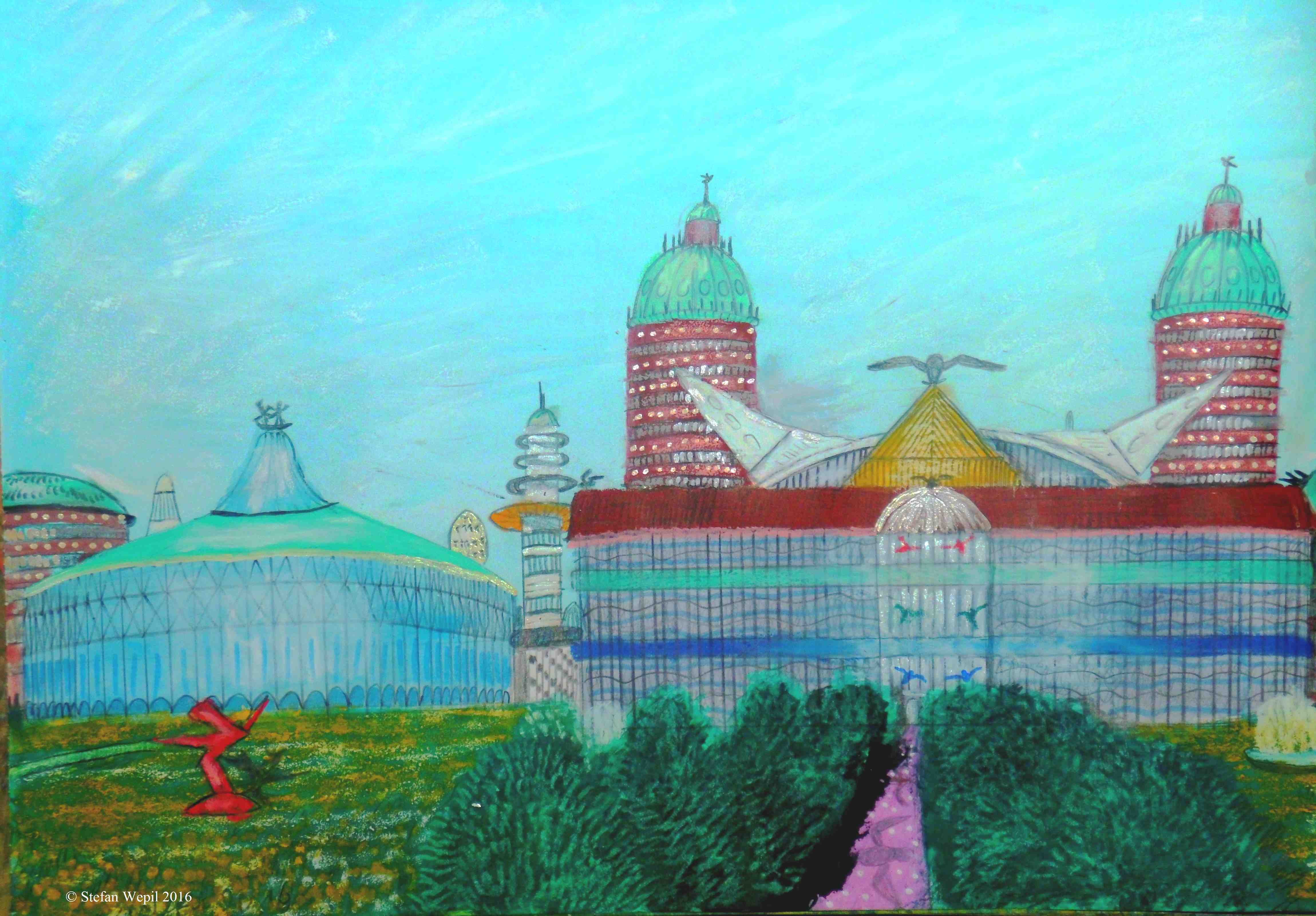 Pugnon, Stadtteil in der dorgonischen Hauptstadt Dom. (C) Stefan Wepil