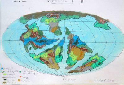Planetenkarte zur Welt Koschan in der Galaxis Cartwheel (C) Stefan Wepil