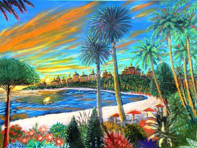 Die Dona-Bucht von Dom auf der Welt Dorgon. (C) Stefan Wepil