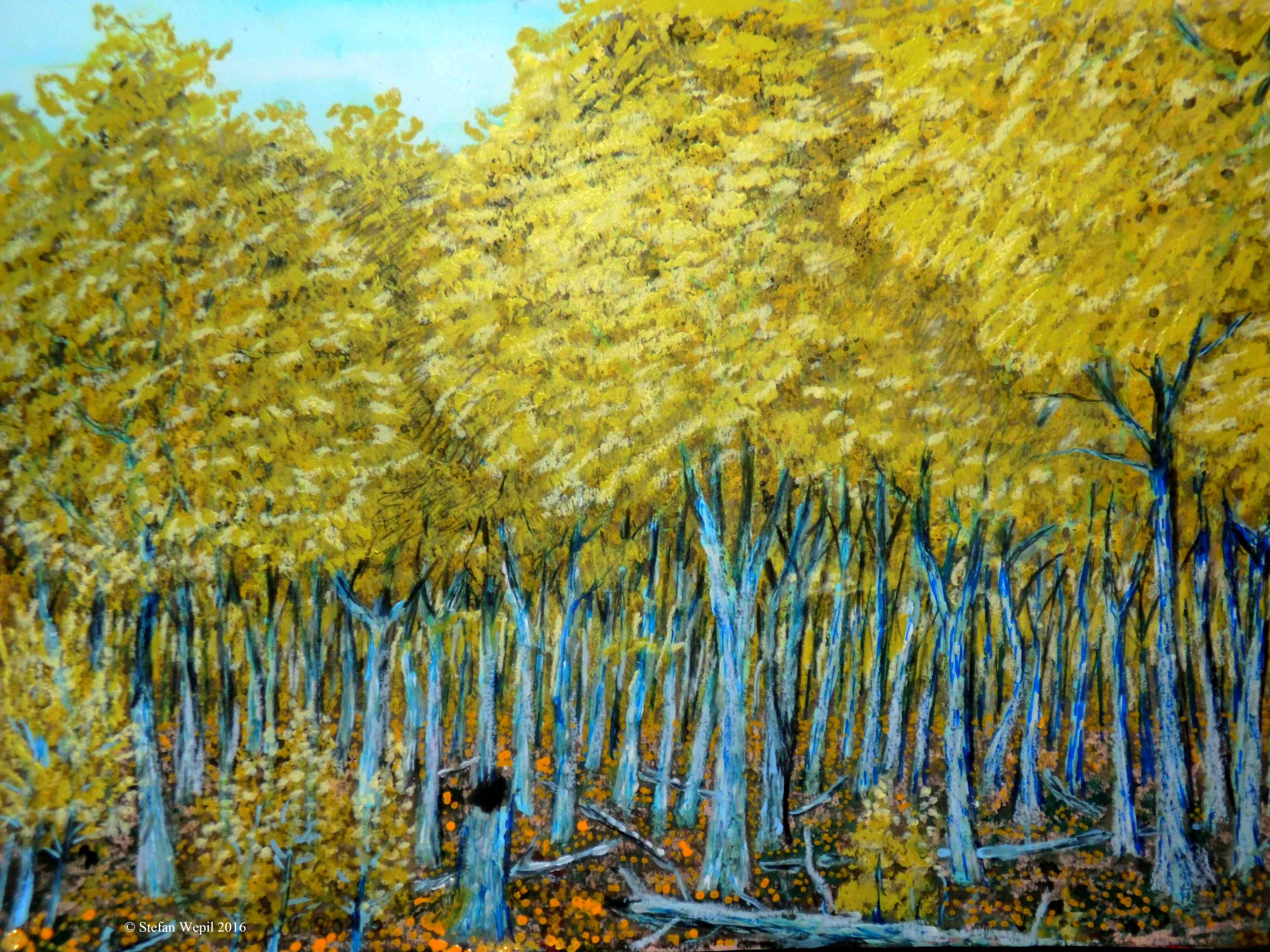 Blaubirken auf dem Planeten Helsuk in Dorgon. (C) Stefan Wepil