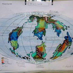 Planetenkarte der Welt Helsuk in Dorgon