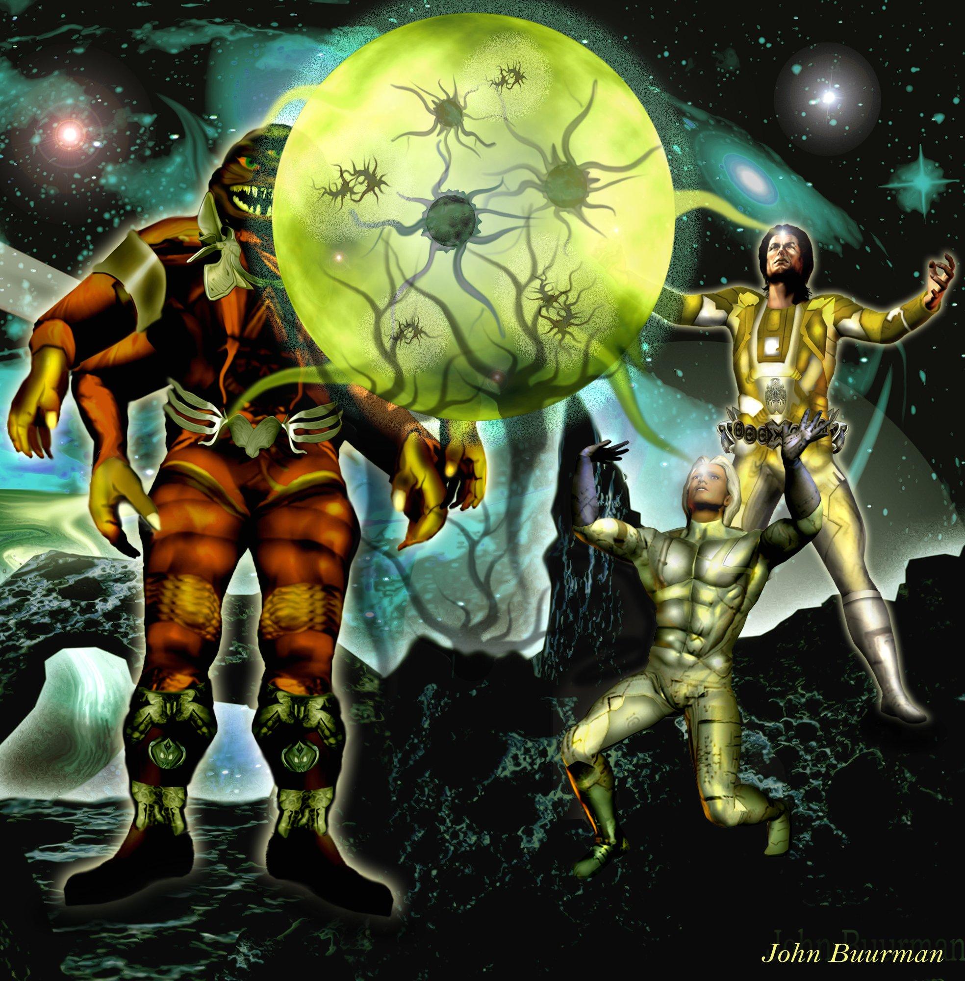 Atlan, Icho Tolot und Osiris von DORGON aufgenommen © John Buurman