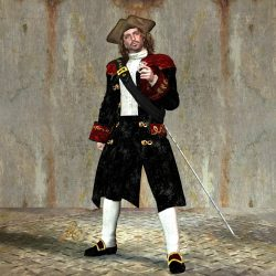 Roi Danton alias Michael Rhodan im Freihändler-Kostüm von 1306 NGZ (C) Gaby Hylla