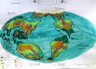 Weltkarte von Elevus (C) Stefan Wepil