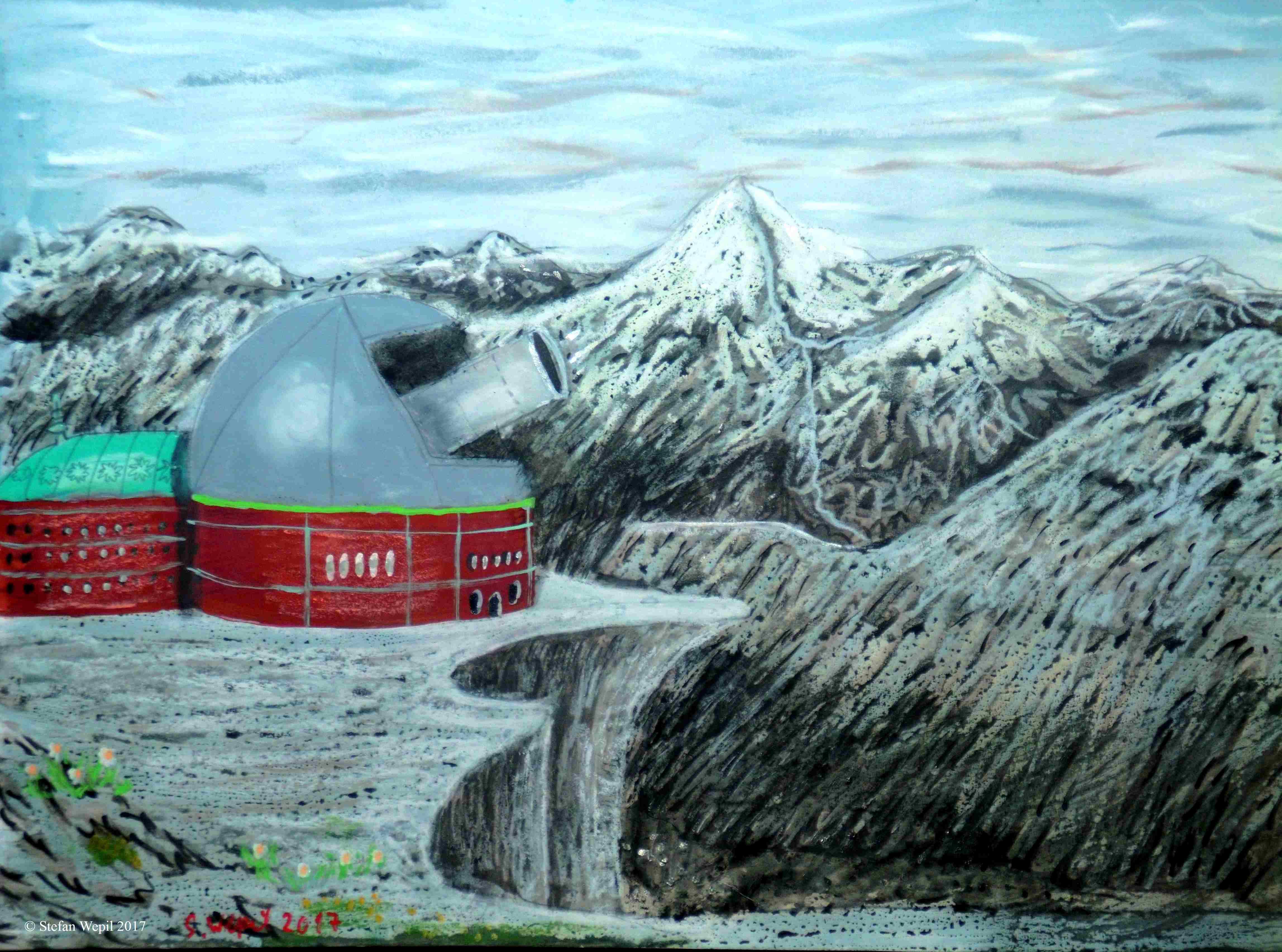 Das Observatorium auf dem Berg Tevit (C) Stefan Wepil
