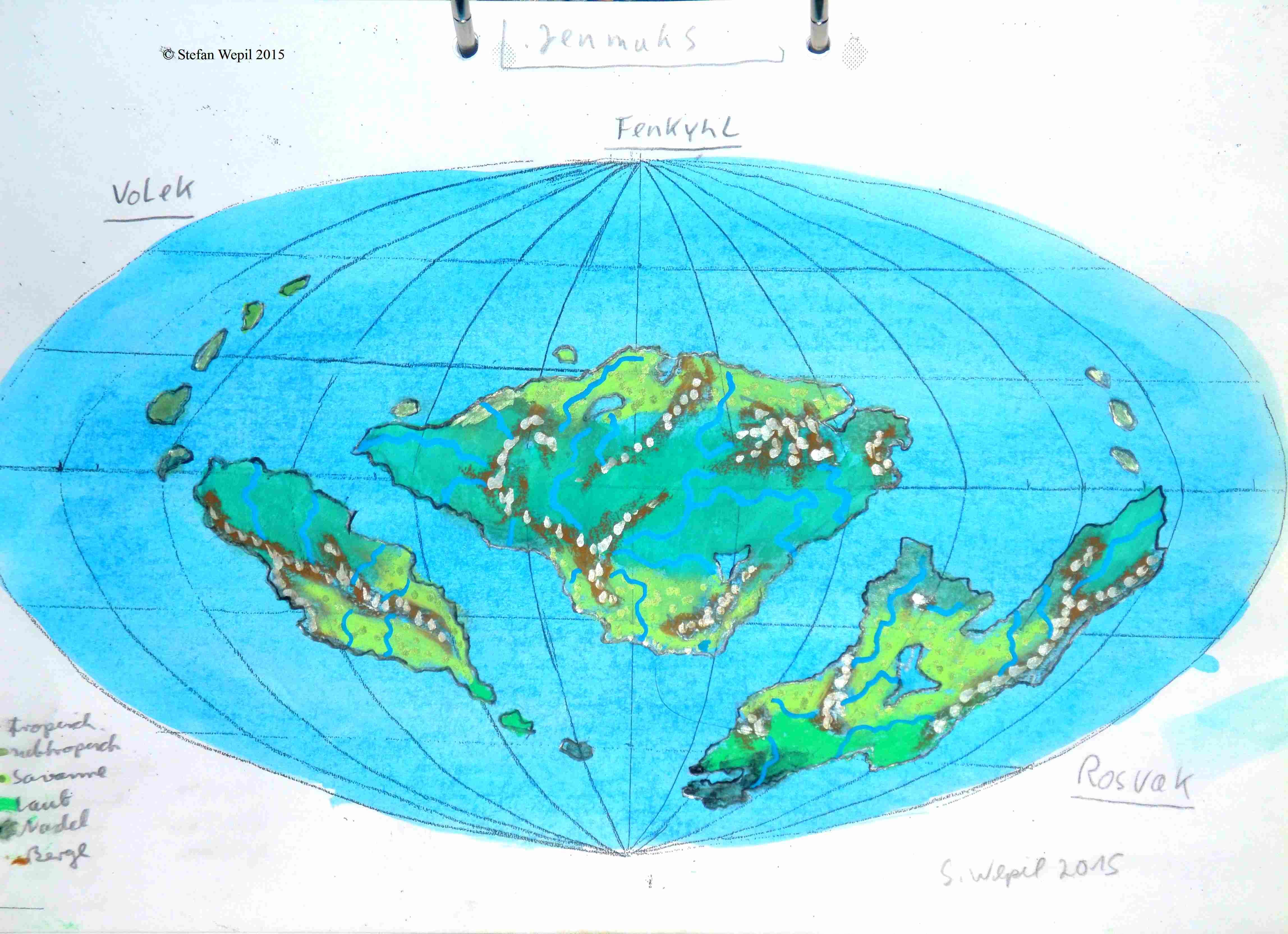 Weltkarte von Jenmuhs (C) Stefan Wepil