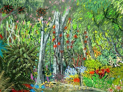 Ein Dschungel auf der Welt Mooghan in M 87 Druithora (C) Stefan Wepil