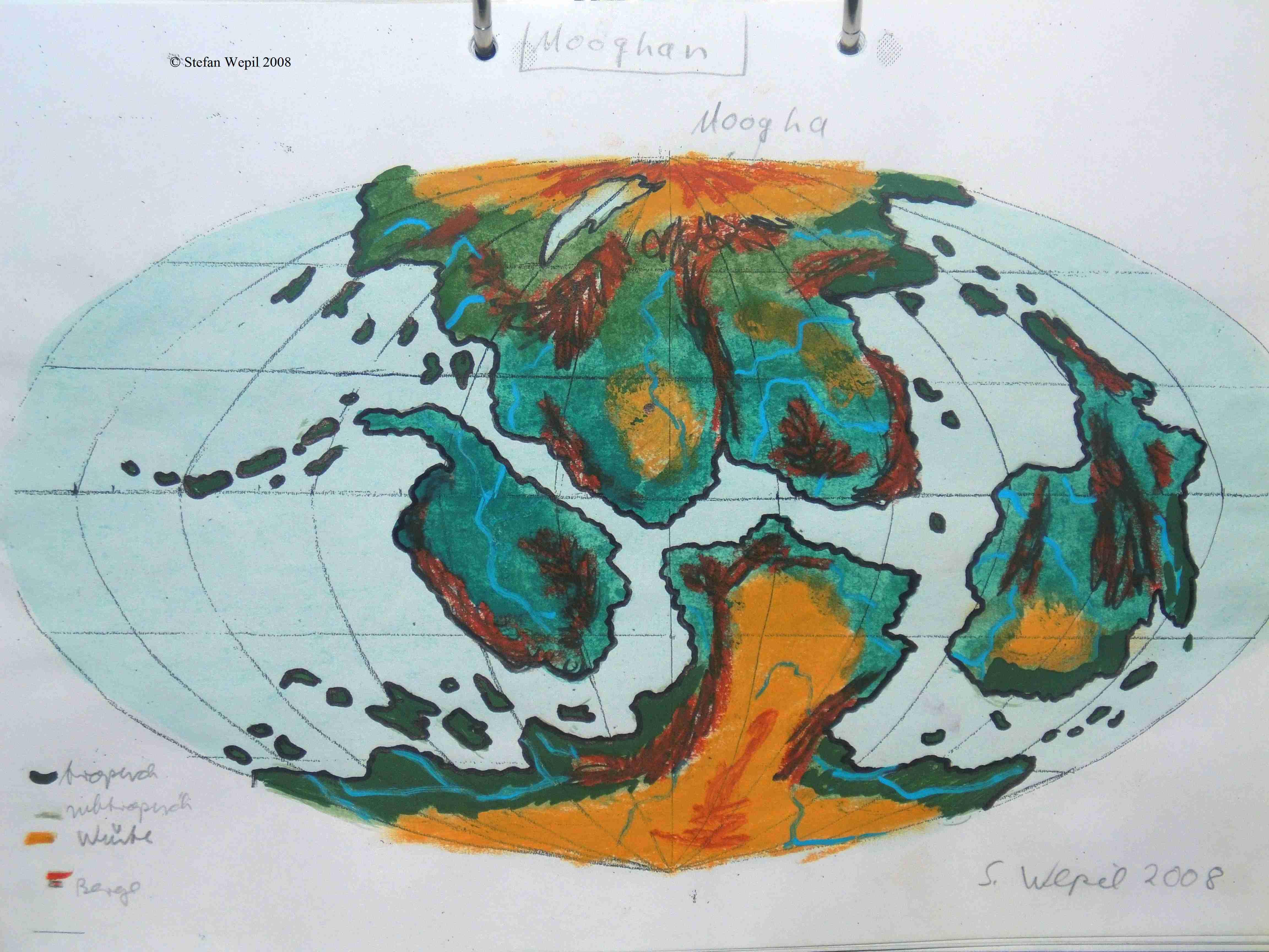 Weltkarte von Mooghan in M 87 Druithora (C) Stefan Wepil