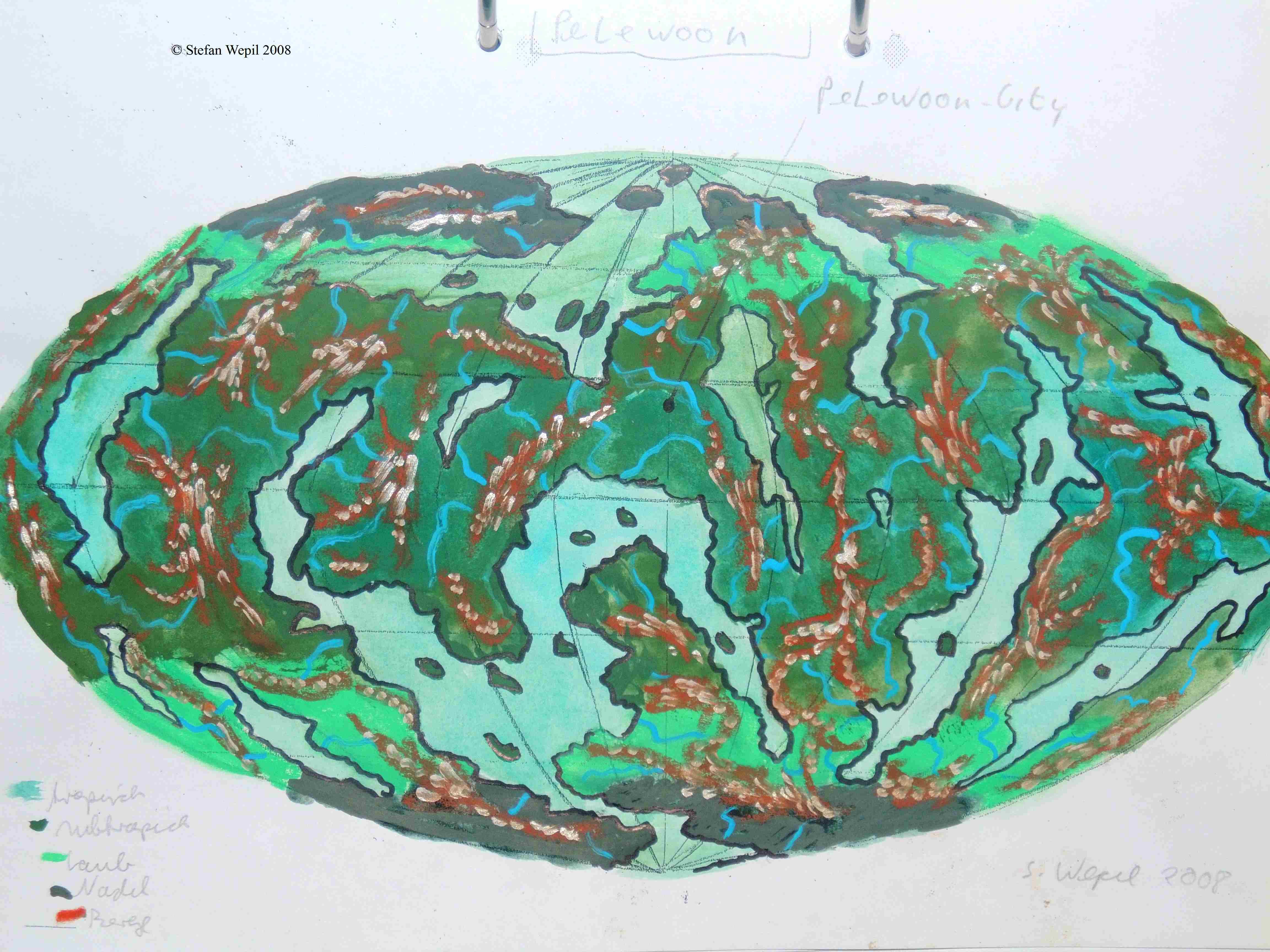 Weltkarte von Pelewoon