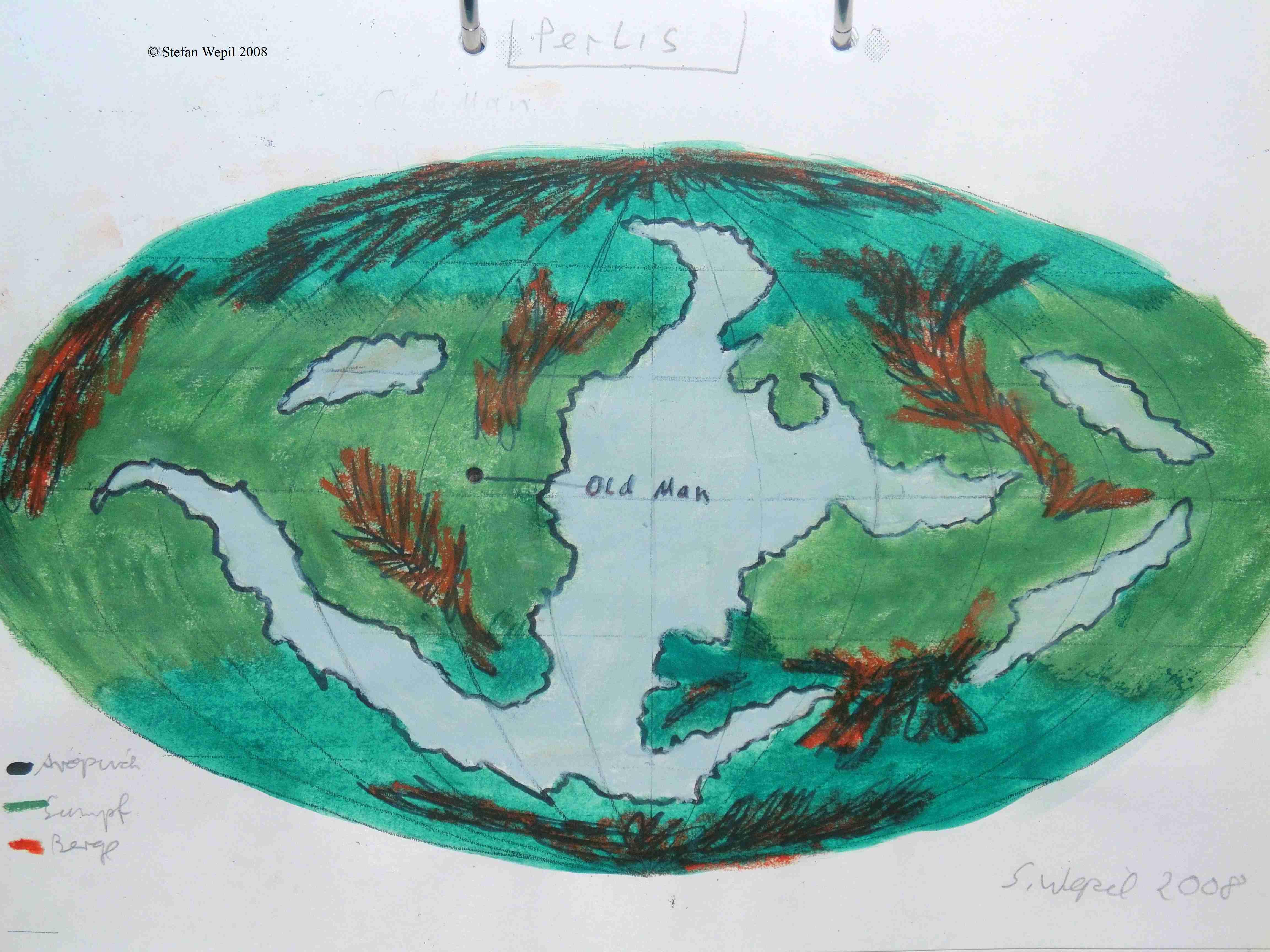 Weltkarte von Perlis (C) Stefan Wepil