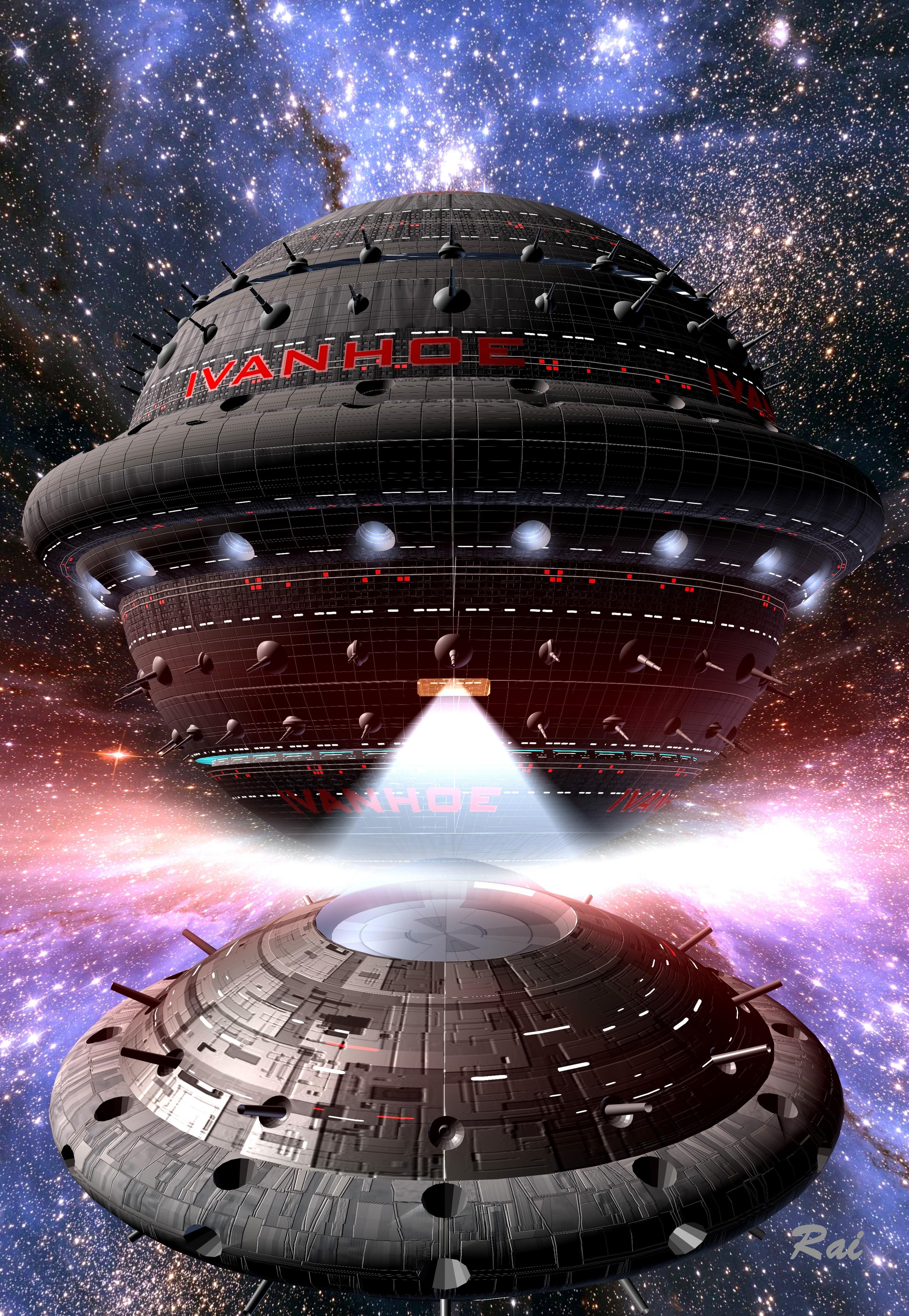 Die IVANHOE, Raumschiff der Liga Freier Terraner unter dem Kommando von Xavier Jeamour.