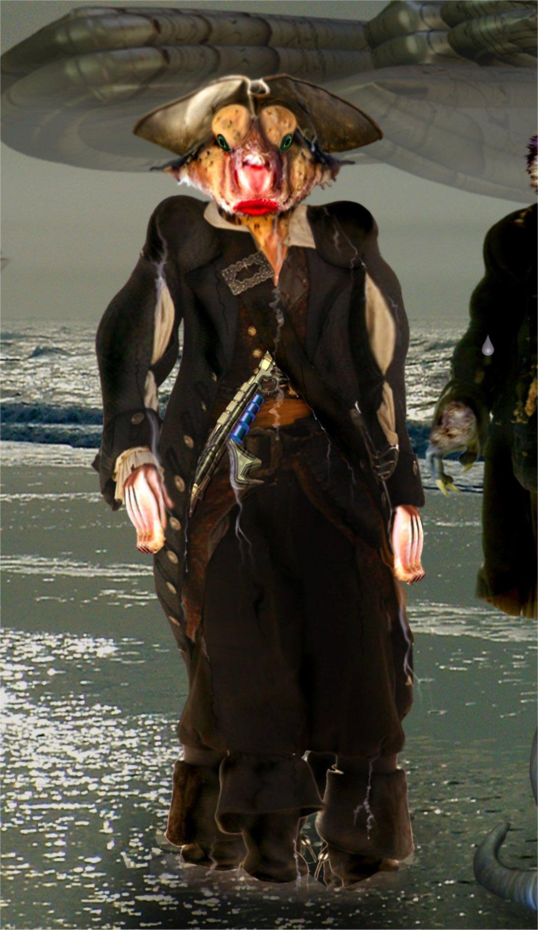 Kapitän Fyntross – ein gefürchteter Arawak-Pirat des Rideryon vom Volk der Battanus. © John Buurman