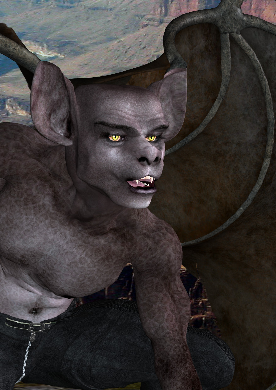 CuL'Arc - das Fledermauswesen ist einer von zwei Schatten des Nistant. (C) Gaby Hylla
