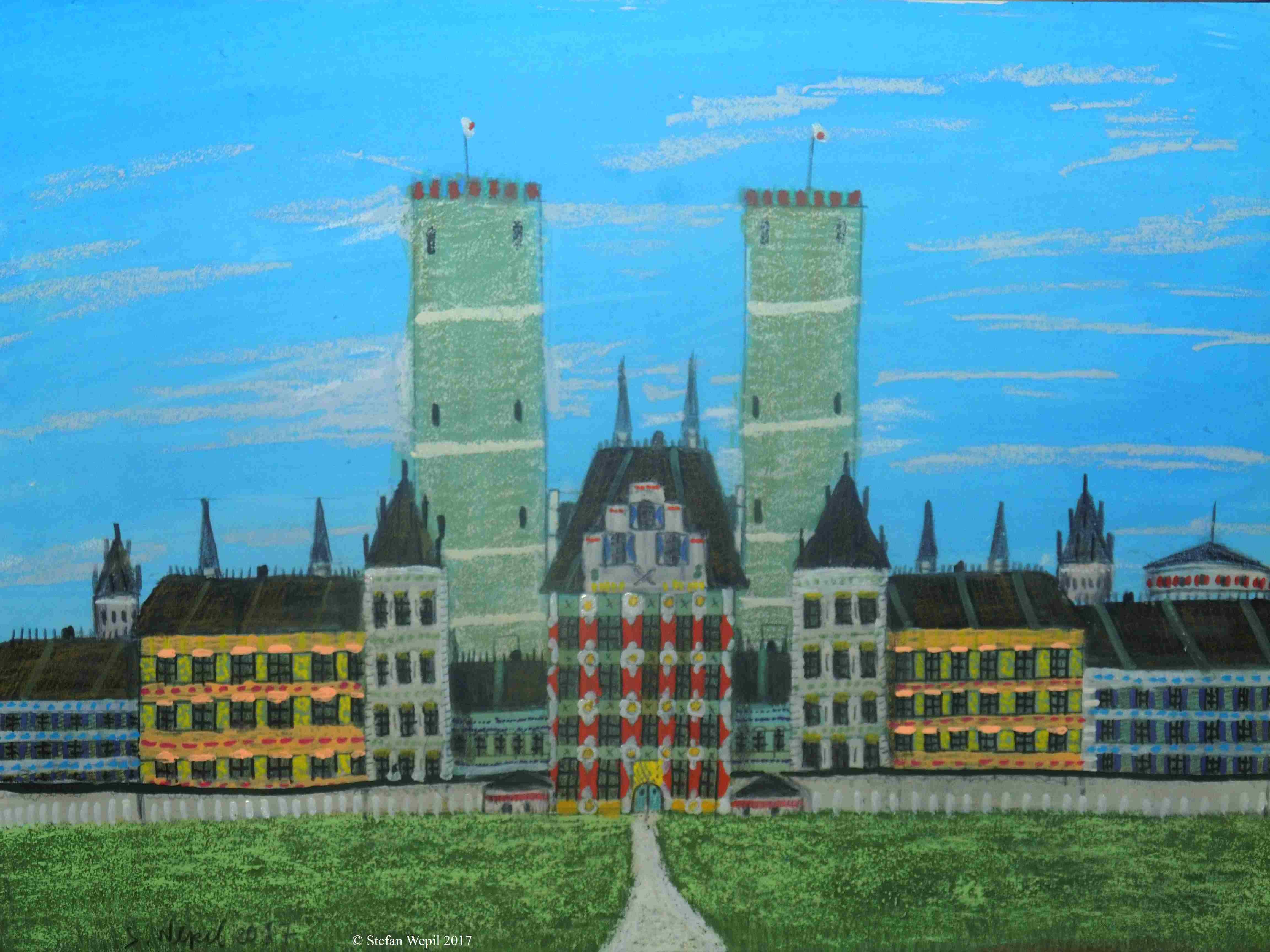 Das Schloss New Madrid der de la Siniestro-Familie auf dem Planeten Siniestro in Cartwheel. © Stefan Wepil